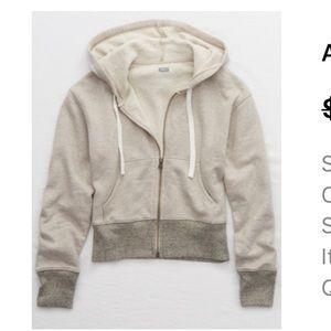 Aerie Zip up Sweater